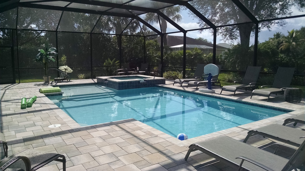 Geometric pool and spa design estero fl for Pool design names